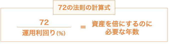 の 法則 72